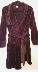 Soma Womens Robe Size S/M Fluffy Plush Short Open